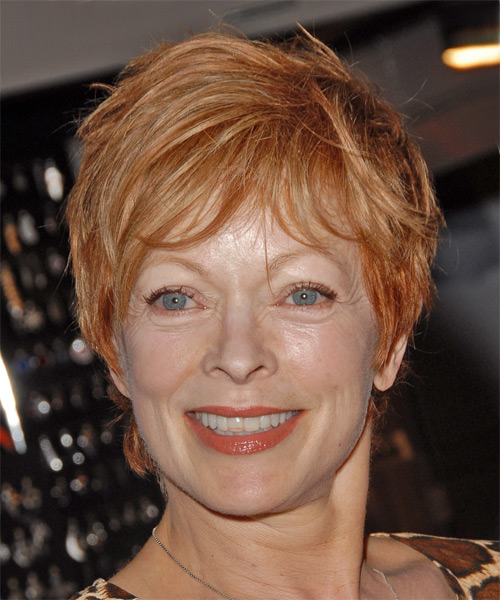Frances Fisher Short Straight Hairstyle