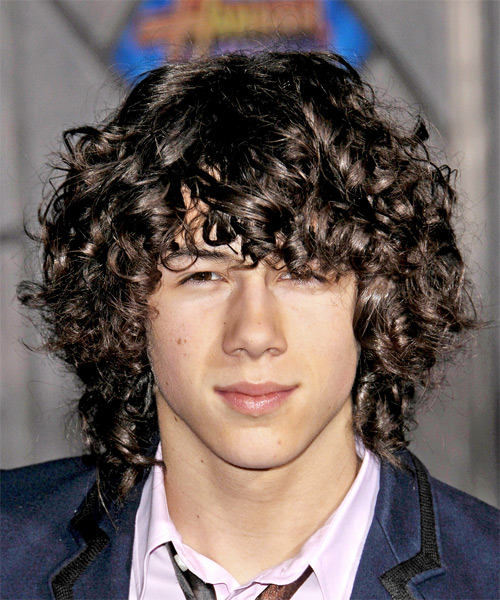 Nick Jonas - Casual Medium Curly Hairstyle