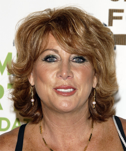Nancy Lieberman Medium Wavy Hairstyle