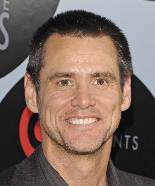 Jim Carrey - Casual Short Straight Hairstyle