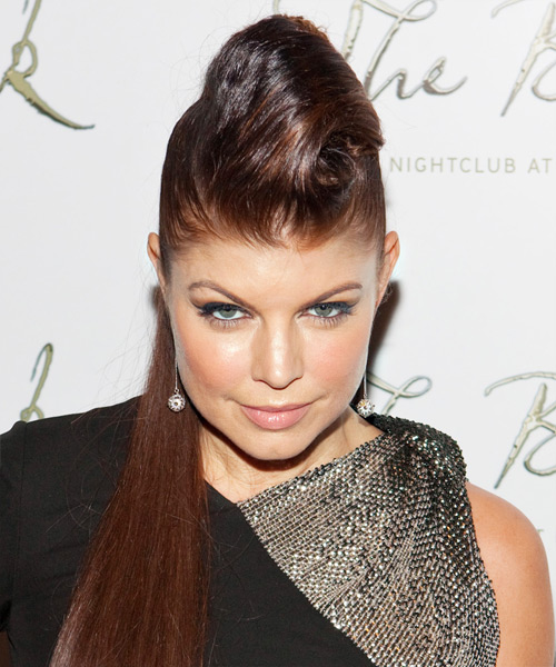 Fergie Alternative Straight Updo Hairstyle