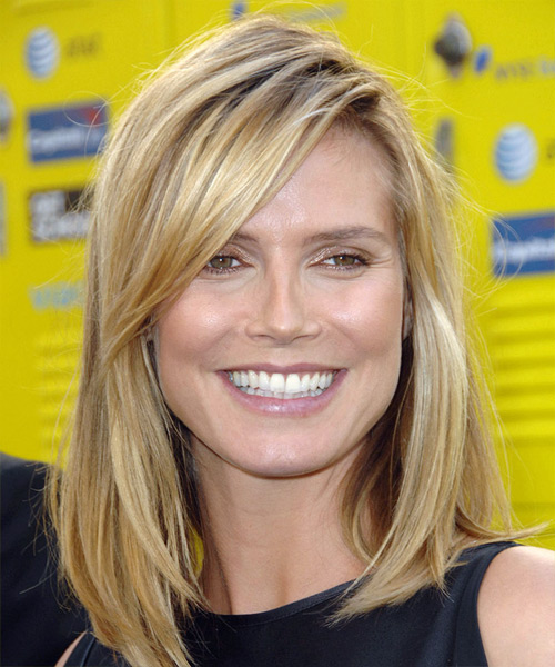 Heidi klum hairstyles for 2017 celebrity hairstyles by heidi klum long straight casual urmus Images