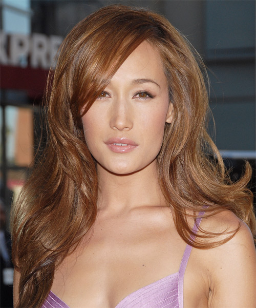Maggie Q Long Straight Formal Hairstyle