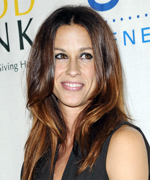 Alanis Morissette Long Straight Casual Hairstyle
