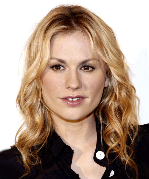 Anna Paquin Long Wavy Casual Hairstyle