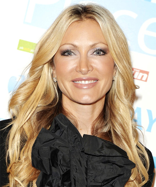 Caprice Bourret Long Wavy Formal Hairstyle