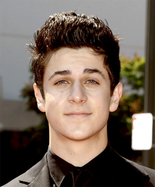 David Henrie Short Straight Hairstyle - Dark Brunette (Mocha)