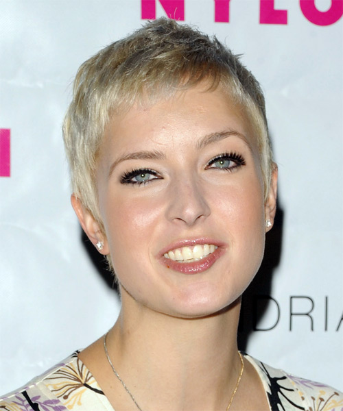 Diablo Cody Short Straight Pixie Hairstyle