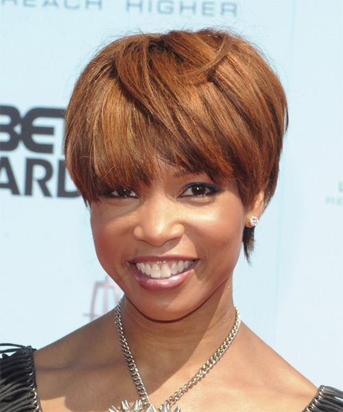 Elise Neal - Casual Short Straight Hairstyle