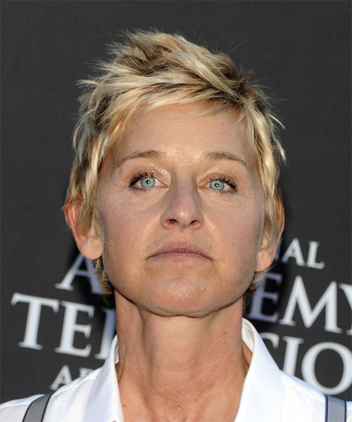 Ellen DeGeneres Short Straight Hairstyle