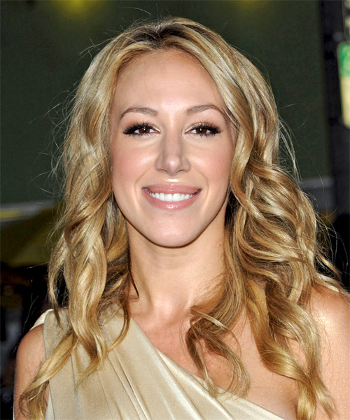 Haylie Duff Long Wavy Hairstyle - Medium Blonde (Golden)
