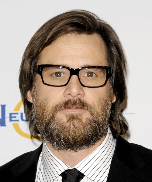 Jim Carrey Medium Straight Casual Hairstyle