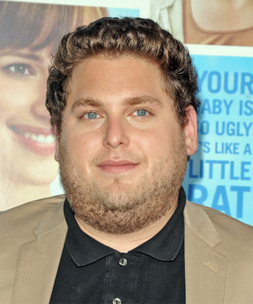 Jonah Hill Short Wavy Casual Hairstyle
