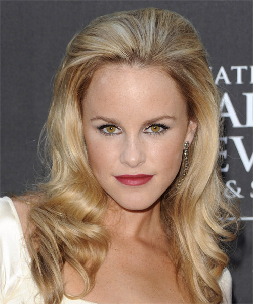 Julie Berman Long Wavy Hairstyle - Light Blonde (Golden)