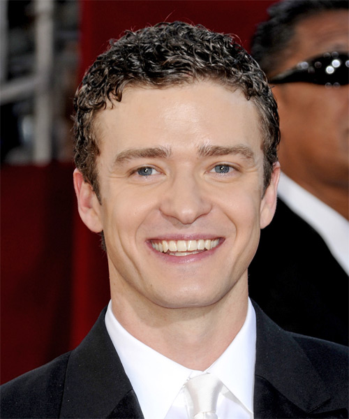 Justin Timberlake Short Curly Casual Hairstyle