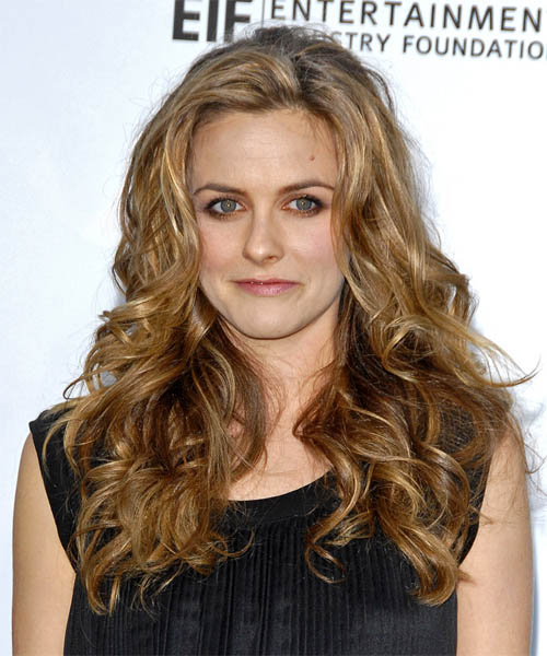 Alicia Silverstone Long Wavy Formal Hairstyle