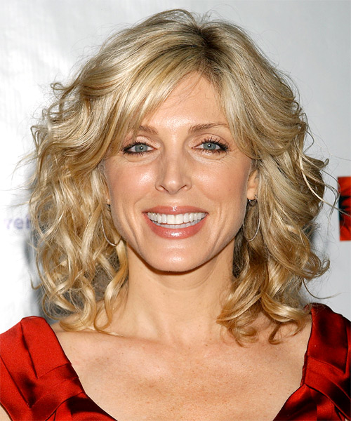 Marla Maples Long Wavy Hairstyle