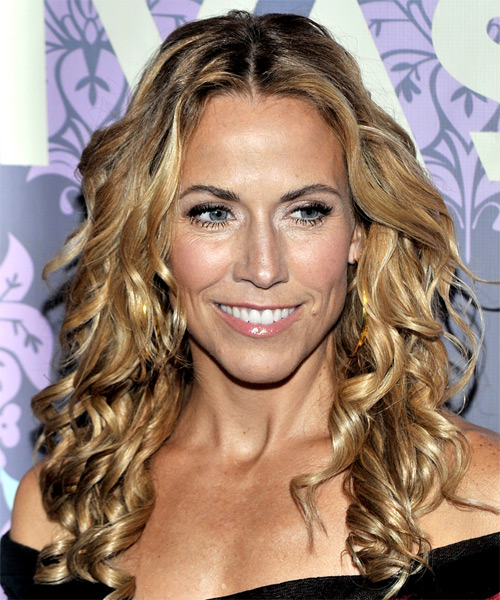 Sheryl Crow Long Curly Formal Hairstyle
