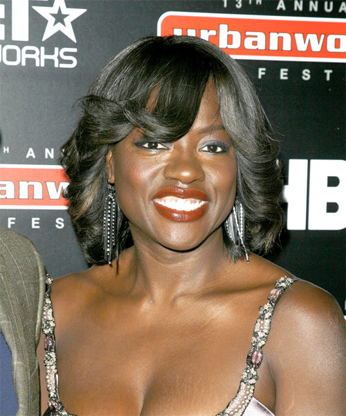Viola Davis - Formal Medium Wavy Hairstyle