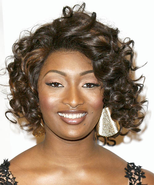 Toccara Jones Medium Curly Formal Hairstyle