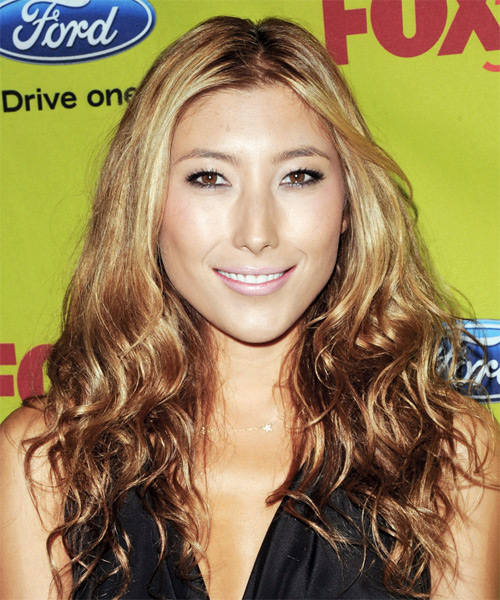 Dichen Lachman Long Wavy Casual Hairstyle