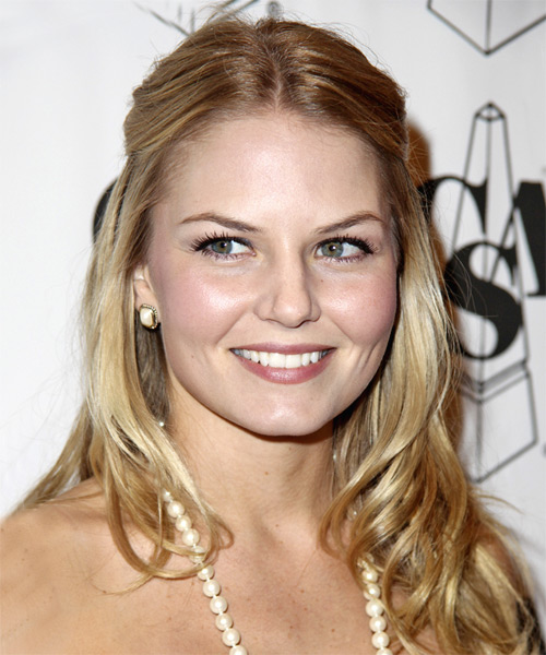 Jennifer Morrison Half Up Long Curly Hairstyle