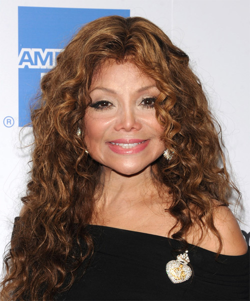 Latoya Jackson - Casual Long Curly Hairstyle