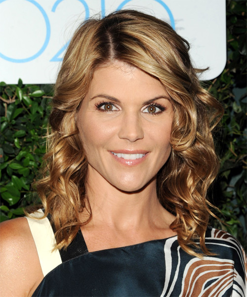 Lori Loughlin Long Wavy Hairstyle