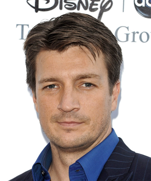 Nathan Fillion Short Straight Formal Hairstyle