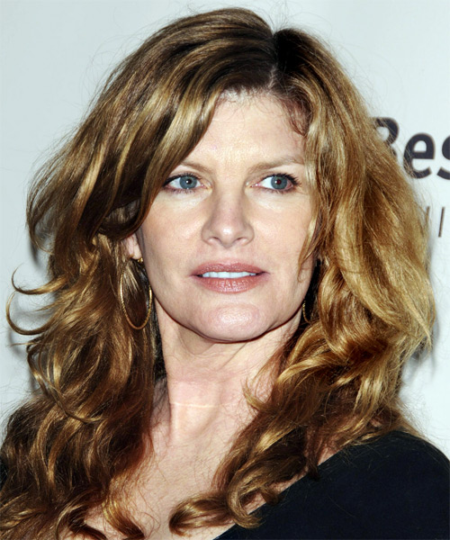 Rene Russo Hairstyle. Rene let her hair out and kept it natural and simple.
