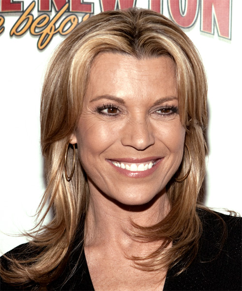 Vanna White - Casual Long Straight Hairstyle