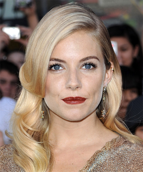 Sienna Miller Long Wavy Formal Hairstyle