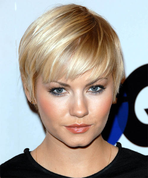 Elisha Cuthbert - Casual Short Straight Hairstyle