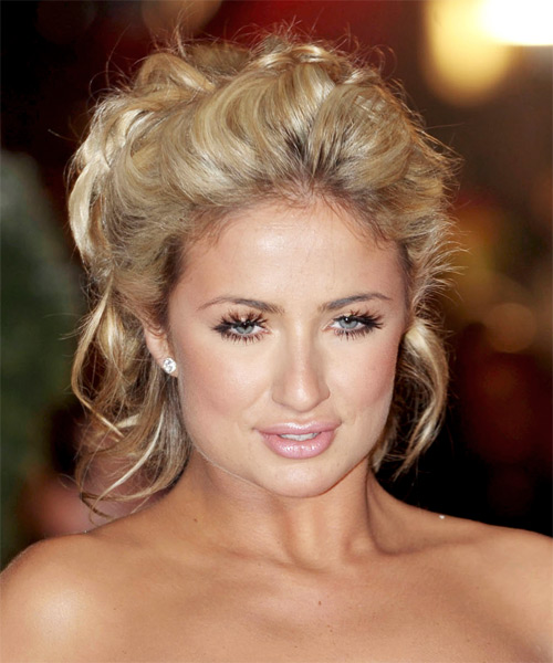 Chantelle Houghton Updo Medium Curly Casual Updo Hairstyle