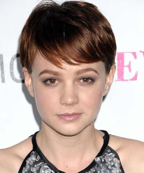 Carey Mulligan Short Straight Casual Hairstyle