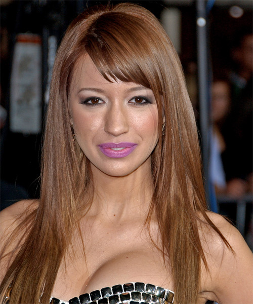 Christian Serratos Long Straight Hairstyle