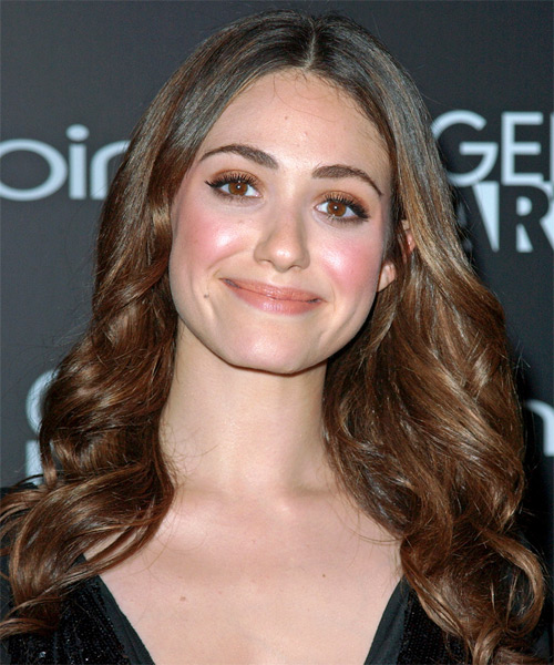 Emmy Rossum  Long Wavy Formal Hairstyle