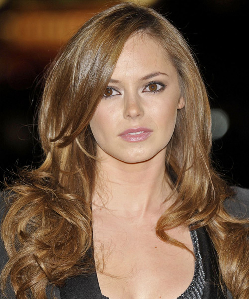 Hannah Tointon  Long Wavy Formal Hairstyle