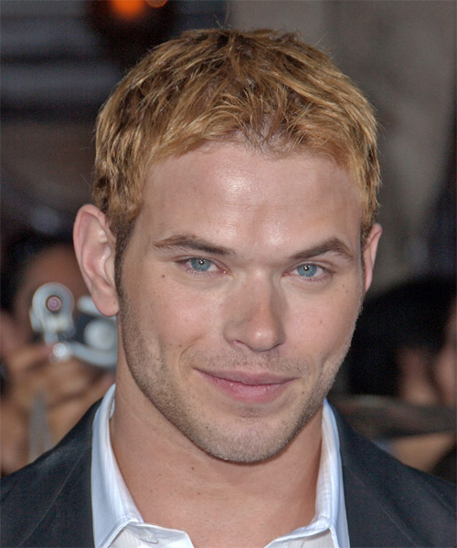 Kellan Lutz Short Straight Casual Hairstyle - Medium Blonde (Copper) Hair Color