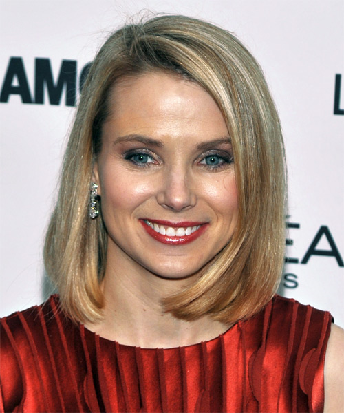 Marissa Mayer Medium Straight Hairstyle