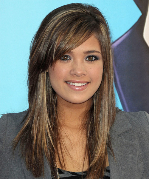 Nicole Gale Anderson Long Straight Casual Hairstyle