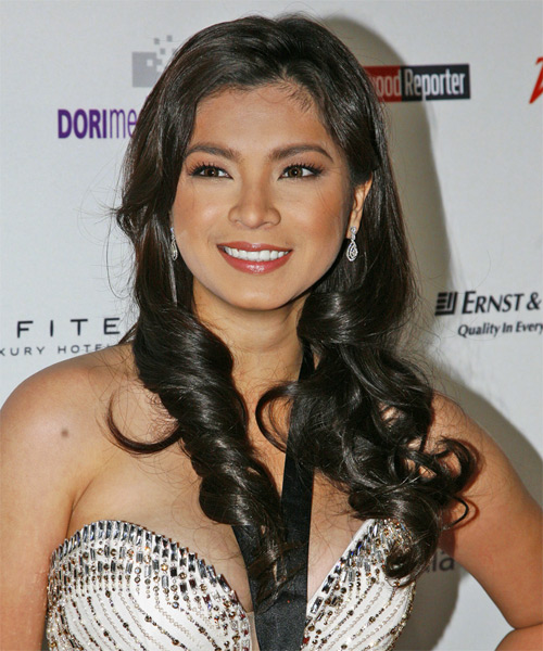 Angela Locsin - Casual Long Wavy Hairstyle