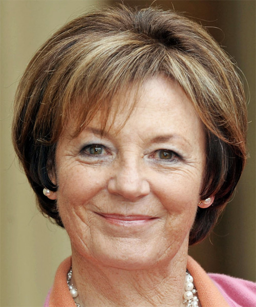 Delia Smith Short Straight Hairstyle