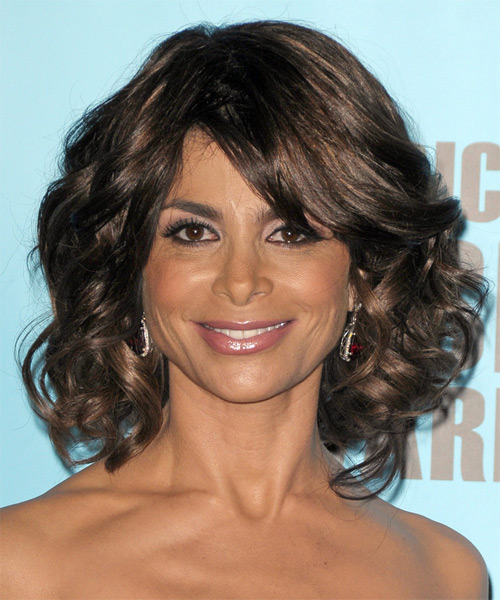 Paula Abdul Medium Wavy Formal Hairstyle