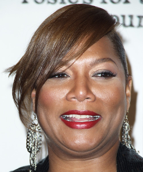 Queen Latifah Formal Straight Updo Hairstyle
