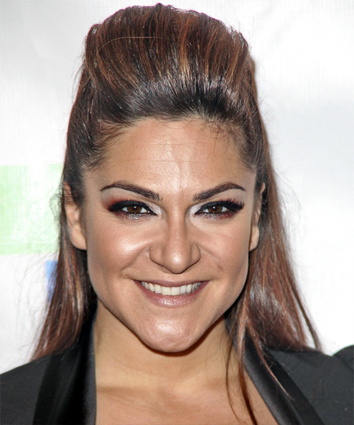 Shoshana Bean Half Up Long Straight Hairstyle