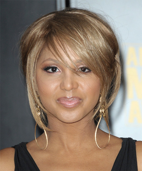 Toni Braxton Straight Casual Half Up Hairstyle