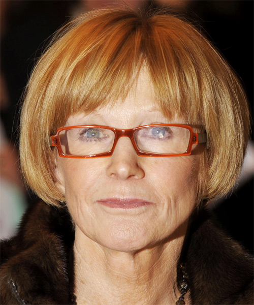 Anne Robinson - Casual Short Straight Hairstyle
