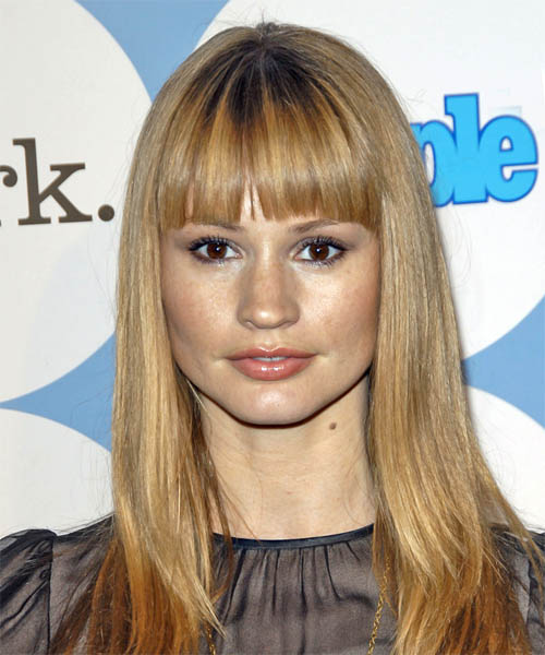 Cameron Richardson - Casual Long Straight Hairstyle