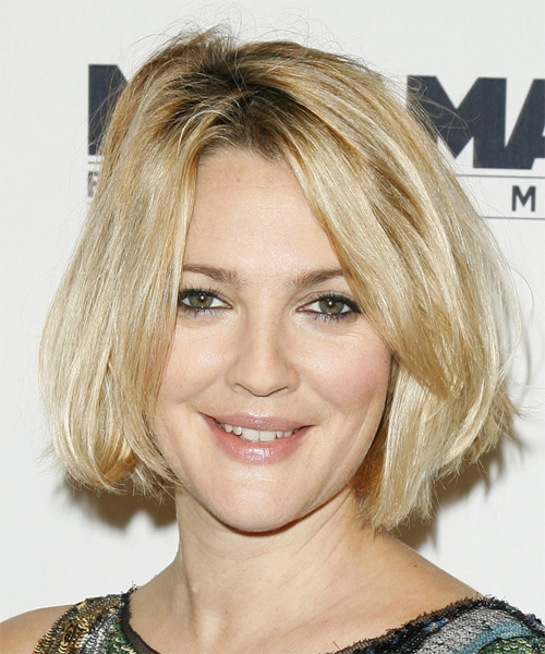 Drew Barrymore - Casual Medium Straight Hairstyle